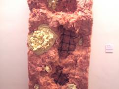 """""""Rebar"""", fiberglass, wax, steel, wire, 2013"""