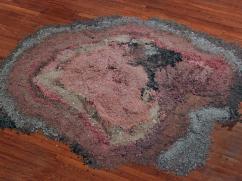 """Detritus"", ground digital photographs, 5' x 5', 2014"