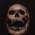 """Skull Study"", acrylic and oil on canvas, 11'' x 14'', 2020"